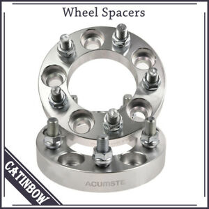 Pair 1 1 2 Studs Wheel Spacers 5x4 5 For Ford Lincoln Mercury Jeep 1965 2014
