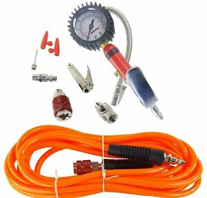 Air Pump Up Tire Inflation Kit Airmaxxx Fill Gauge W 20 Ft Arb Hose Fittings