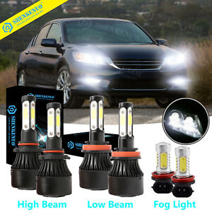 For Honda Accord 2013 2014 2015 4side Led Headlight High low Beam fog Light Kit