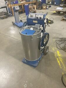Nordson Sure Coat Manual Powder Coating System W 50lb Hopper Refurbished