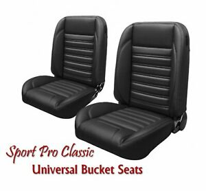 Sport Pro Classic Complete Univeral Bucket Seat Set W Contrast Stitching Usa