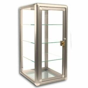 Glass Countertop Display Case Store Fixture Showcase With Front Lock
