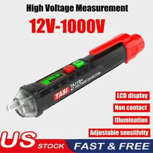 Ac dc Non contact Lcd Electric Voltage Test Pen 12 1000v Detector Tester Pencil