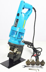 Hydraulic Steel Plate Bar Hole Punching Machine Hole Punch Tool Die Puncher 110v