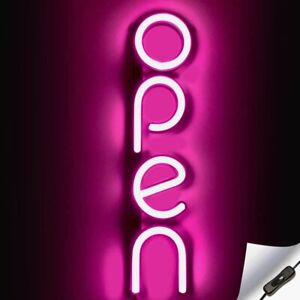 Vertical Led Neon Open Sign For Business Bright Led Open Sign With On