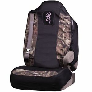 Browning Mossy Oak Infinity W Pink Trim Universal Seat Cover Pair