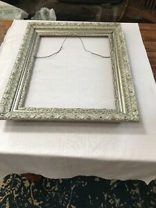 Vintage Antique Picture Frame Ornate Gesso Wooden Wood 16 1 8 By 20 1 8