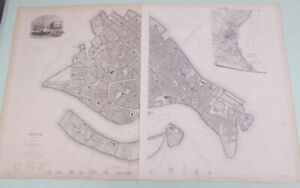Venice 2 Page Map W B Clarke 1838 Society For The Diffusion Of Useful Knowledge
