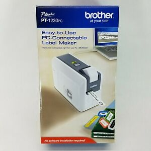 Brother P touch Pt 1230pc Pc connectable Label Maker