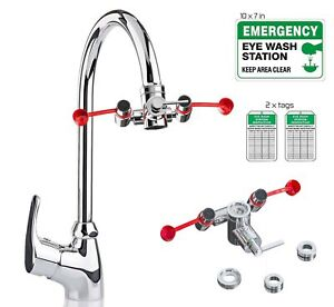 Skywin Eye Wash Kit Faucet Mounted Emergency Eye Wash Station Sink Attachme