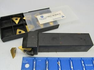 Stellram 1 1 4 Indexable Threading Tool Holder W Tnma 54nv Carbide Inserts