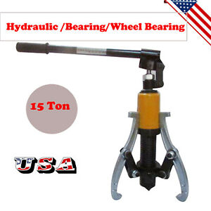 Ups 15 Ton Hydraulic Gear Jaw Wheel Hub Puller Bearing Separator Tool Set Kit Sc