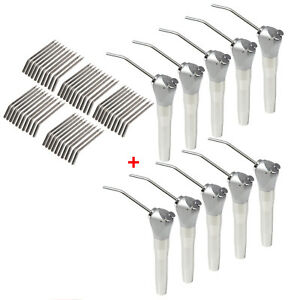Usa 10pc Dental Air Water Spray Triple Syringe With 50 Nozzles Tips Tubes