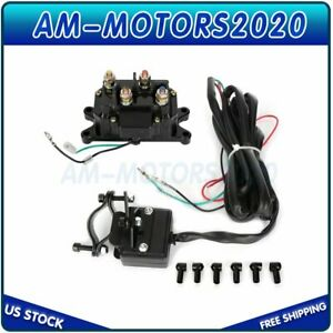 For Atv Utv Solenoid Relay Contactor Winch Rocker Thumb Dash Switch Combo 12v