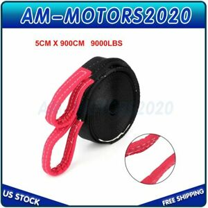2 Tow Strap 30 Ft Winch Sling Snatch Vehicle Heavy Duty Recovery 2 X 30ft