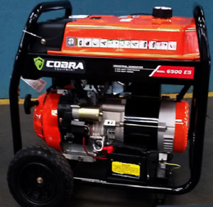 Cobra 6500es Gass Powered Generator With Electric Start And Low Oil Shut Down