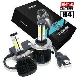 4 sided H4 9003 Hb2 Led Headlight Bulbs Hi low Dual Beams Canbus Night Headlamp