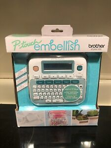 Brother P touch Embellish Ribbon Tape Label Printer Machine P