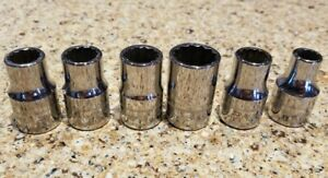 Snap On 1 2 Dr Price Per Piece 12 Pt Shallow Metric Socket Please Read