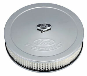 Proform 302 350 Ford Racing Chrome Air Cleaner Kit 13 Diameter 2 63 Filter