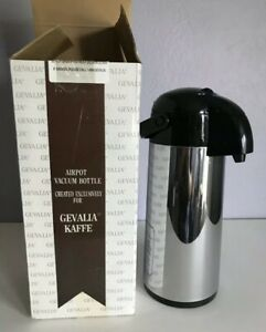 Gevallia Kaffe Airpot Vacuum Coffee Dispenser Bottle 60 Oz Free Shipping