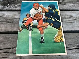 Vintage 1950's COCA COLA Football Player 2 Page Scoreboard Ad Joe Little COKE