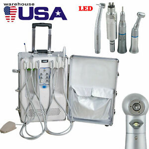 Dental Delivery Unit Air Compressor Scaler Curing Cart Case High Low Handpiece