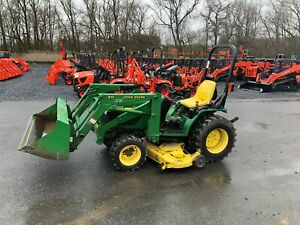 John Deere 4100 4wd Tractor With Loader Mower