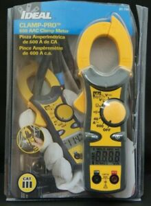 Ideal 61 744 Clamp pro 600 Aac Clamp Meter Brand New