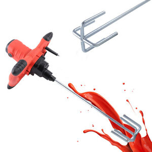 110v 1200w Industrial Electric Mortar Mixer Stirrer 6 Speed Paint Cement Grout