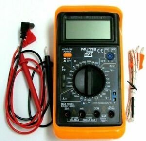 Digital Multimeter With Temperature Freq Test W test Leads And Temp Probe
