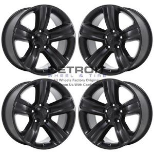 20 Dodge Ram 1500 Satin Black Exchange Wheels Rims Factory Oem 2453 2013 2018