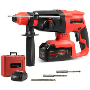 Ironmax 20v Cordless Lithium ion Sds Plus Rotary Hammer Drill 3 Mode W drill Bit