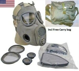 Full Face Nbc Gas Mask Respirator Military Czech M10 W Filters Free Bag Nos