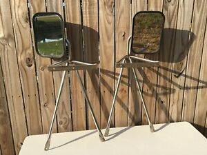 70s Chevrolet Dodge Ford Gmc Camper Truck Stainless Steel Towing Mirrors Oem