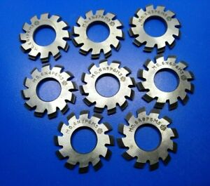 Set 8pcs Module M0 6 Inner Bore 13mm 1 8 Hss Involute Gear Cutters Disk shaped