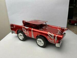 Handmade CAR made from recycled COCA COLA SODA CANS