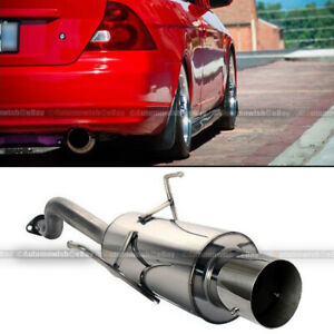 For 01 05 Honda Civic 2dr 4dr Stainless Steel Bolt On Axle Back Exhaust Muffler