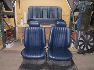 90 95 Mercedes W124 Front Rear Leather Seats Complete Set Oem