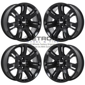 22 Cadillac Escalade Gloss Black Exchange Wheels Rims Factory Oem 4738 2007