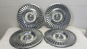 1955 56 Ford 14 Wheel Cover Hubcaps Oem
