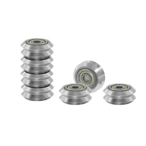 Two Trees 10pcs Transparent Stainless Steel V slot Pulley Wheel With 625zz