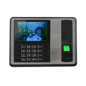 4 Tft Lcd Screen Biometric Fingerprint Password Attendance Machine Clock I2t4
