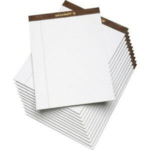 Skilcraft Writing Pad Letter 5 16 Rule White 12 Pads nsn3723108