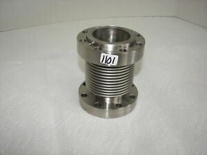 High Vacuum Research Chamber 3 3 8 Bellows Flange 2 1 2 Long Nice