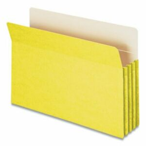Smead 3 1 2 Expanding File Folder Legal Size Yellow smd74233