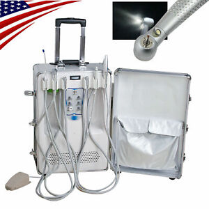 Moveable Dental Delivery Unit Cart Air Compressor Scaler Curing Light Handpiece