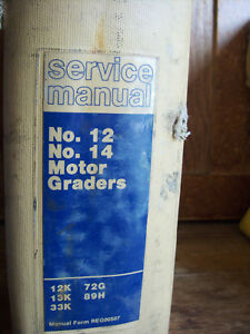 Cat Caterpillar No 12 No 14 Motor Graders Service Maintenance Manuals