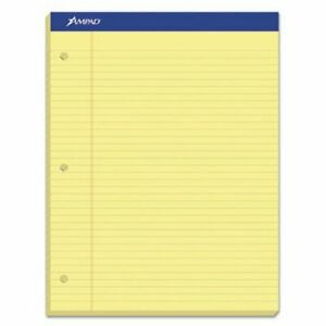 Ampad Evidence Dual Ruled Pad Legal wide Canary 100 Sheets top20243
