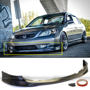 For 04 05 Honda Civic 2 4dr Jdm Pdm Style Front Bumper Lip Body Kit